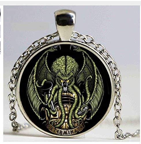 Kraken Cthulhu Pendant & Necklace, Vintage Necklace Fine Jewelry