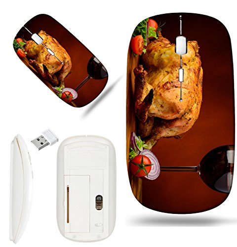 Luxlady Wireless Mouse White Base Travel 2.4G Wireless Mice with USB Receiver, 1000 DPI for notebook, pc, laptop, macdesign IMAGE ID: 24356159 chicken grilled roasted wine red drink food meat - Wine Roasted