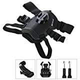 HOHEM Hound Dog Fetch Harness Adjustable Chest Strap Mount for GoPro HERO6/5/5 Session/4 Session/4/3+/3/2/1, Xiaoyi and Other Action Cameras(Black)