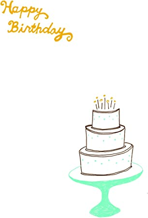 Wondrous Amazon Com Lark Press Layer Cake On A Stand Birthday Card 3 5 X Funny Birthday Cards Online Aboleapandamsfinfo