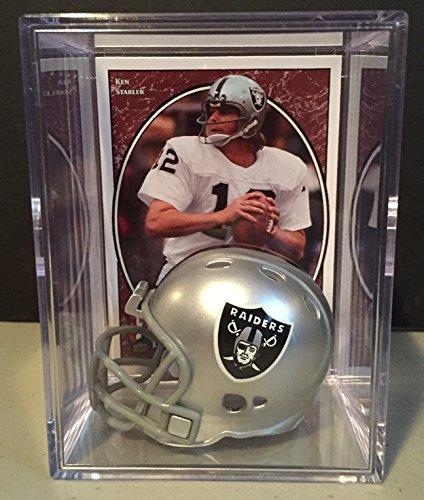 Oakland Raiders NFL Helmet Shadowbox w/ Ken Stabler card