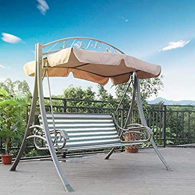 FEFEFEF Hamaca al Aire Libre Hamaca al Aire Libre Hamaca Doble Columpio jardín de Ocio Silla Columpio jardín balcón Hamaca,2: Amazon.es: Deportes y aire libre