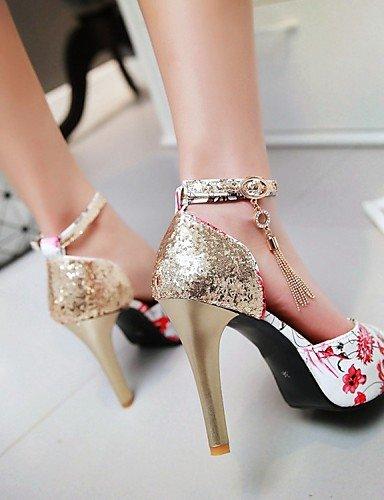 LFNLYX Zapatos de mujer-Tacón Stiletto-Cuñas / Tacones / Punta Abierta / Comfort / Innovador / Botas a la Moda / Zapatos y Bolsos a Juego- Green