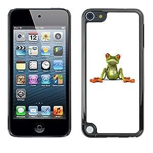 """Apple iPod Touch 5 , JackGot - Impreso colorido protector duro espalda Funda piel de Shell (Rana blanca minimalista minimalista Limpio Lindo"""")"""