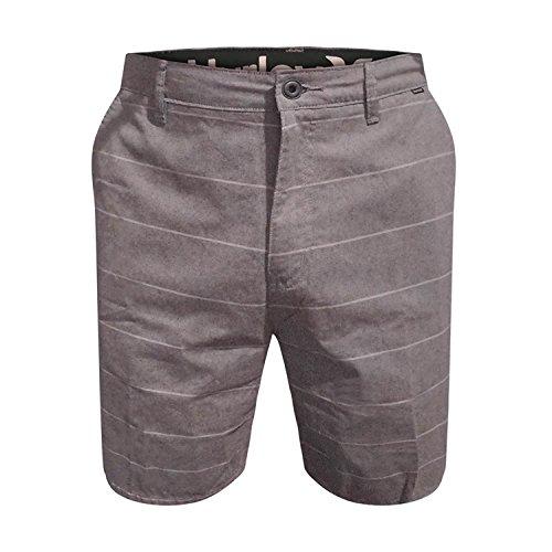 Hurley Mens Dri-Fit Porter Walkshorts Grey Shorts (Grey Stripe, 31)