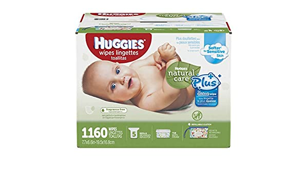 Amazon.com: Huggies Natural Care Plus Baby Wipes 1160 Ct: Health & Personal Care