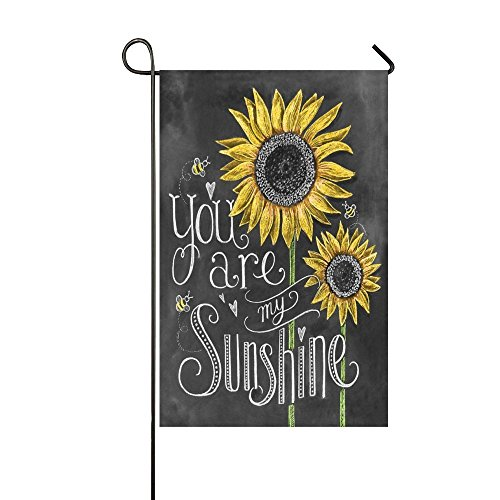 You Are My Sunshine Sunflower 28x40 Inch Garden Flag - Doubl