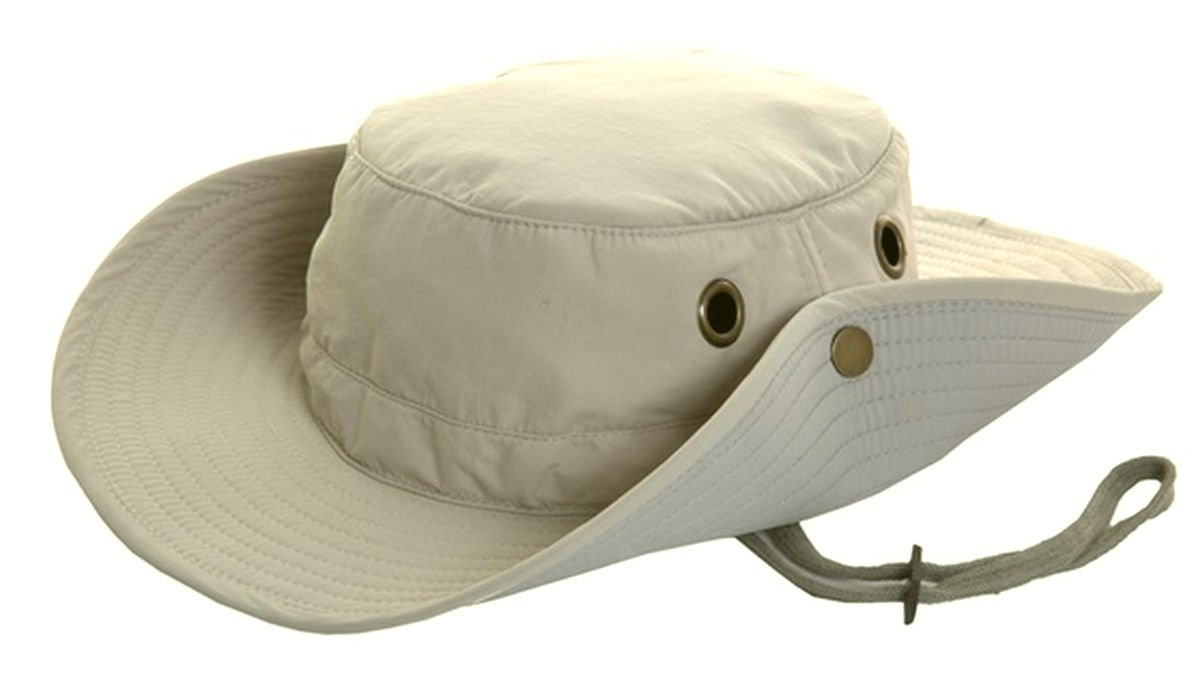 Mens Lightweight Wide Brim Aussie Sun Hat Hidden Pocket Green Beige S M L XL XXL Hawkins