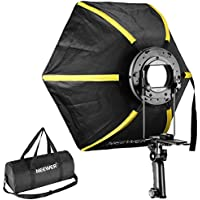 Neewer 24 inches/60 centimeters Professional Hexagonal Softbox Collapsible Diffuser with Handle Grip for Speedlight Studio Flash for Portrait or Product Photography (Black/Yellow)
