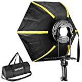 Neewer 20 inches/50 centimeters Professional Hexagonal Softbox Collapsible Diffuser with Handle Grip for Speedlight Studio Flash for Portrait or Product Photography (Black/Yellow)