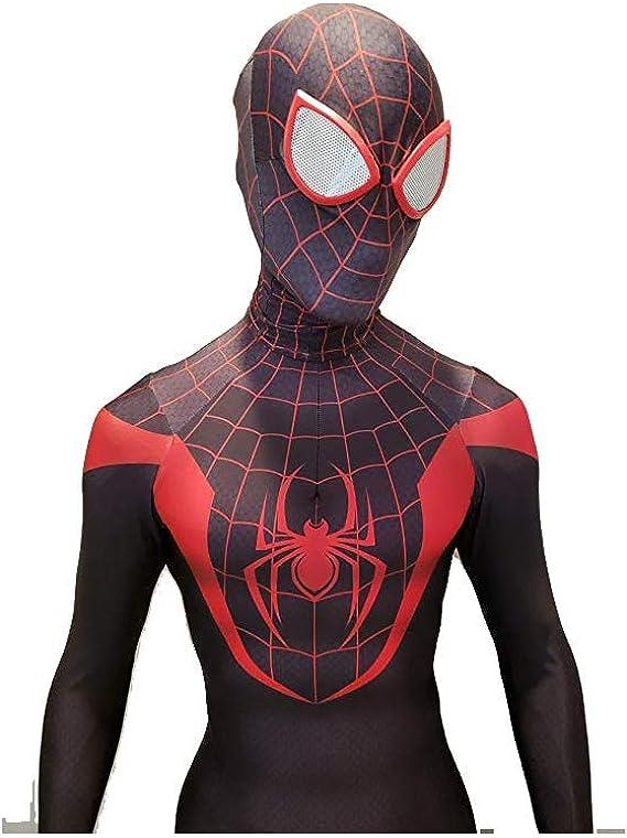 Cosplay Disfraz Miles Morales- Spider-Man Negro: Amazon.es: Ropa y ...