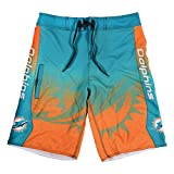 Miami Dolphins Gradient Board Short Large 34