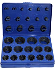 Boeray 363Piece Metric O-Ring Assortment Set, 30 Sizes Universal Black Rubber O-Rings for Automotive, Plumbing, and General Repair-Blue