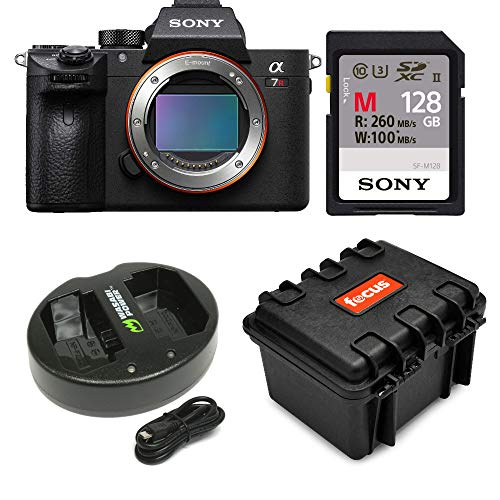 Sony a7R III 42.4MP Fullframe Mirrorless ILCE Camera 128GB Bundle
