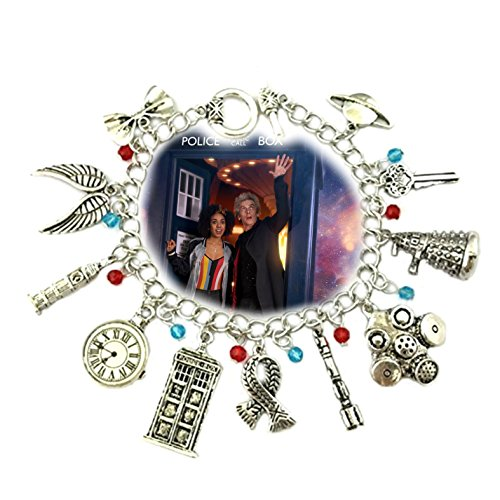 Blue Heron Dr. Who 11 Logo Charms Toggle Clasp Bracelet w/Gift - Taylor Party Supplies Swift