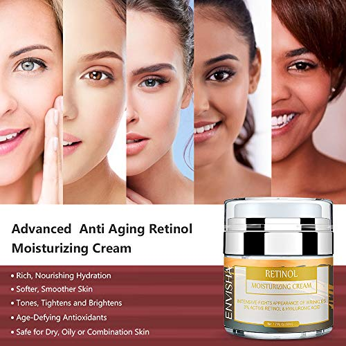 51ZkveYgm5L - Wumal Retinol Moisturizer Cream for Face and Eye Area - Anti Aging Infused with 3% Active Retinol, Hyaluronic Acid & Vitamin E - Reduce Wrinkles, Fine Lines, Fades Sun Spot