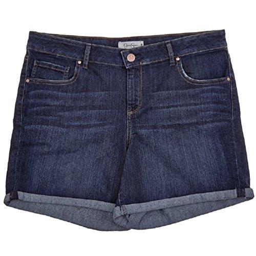 Jessica Simpson Women's Plus Forever Roll Cuff Denim Shorts, Royal Blue (14 Plus) ()