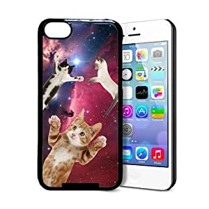 Hipster Flying Space Cats iPhone 6 4.7c Case - Fits iPhone 6 4.7c Kimberly Kurzendoerfer