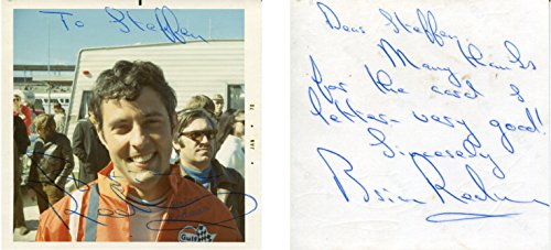 Brian Redman F1 autograph, signed photograph