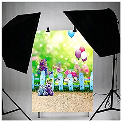 3x5ft Vinyl Photo Studio Props Backdrops Bear Balloon Flower Baby Kids Children Theme Photo Photography Background