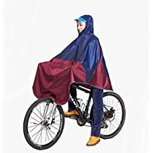 Mens Womens Cycling Bicycle Bike Raincoat Rain Cape Poncho Hooded Windproof Rain Coat Mobility Scooter Cover