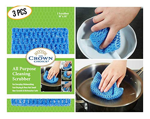 NO ODOR Dish Cloth for All Purpose Dish Washing (3PK) | No Mildew Smell from Sponges, Scrubbers, Wash Cloths, Rags, Brush | Outlast ANY Kitchen Scrubbing Sponge or Cotton Dishcloth by The Crown Choice (Image #7)
