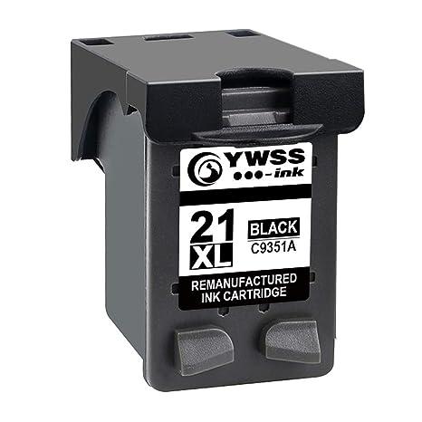 YWSS Remanufacturado Cartucho de Tinta para HP 21XL HP 21 Alto Rendimiento Cartucho de Tinta (1 Negro) C9351A para HP Deskjet 3940 D1530 F2280 D2360 ...
