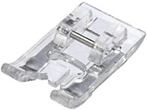 ZIGZAGSTORM 40110165 7mm Satin Stitch Presser Foot Transparent Buttonhole Foot for All Low Shank Snap On Singer,Brother,Babylock,Euro-Pro,Janome,Kenmore,White,Juki,New Home,Elna Sewing Machine