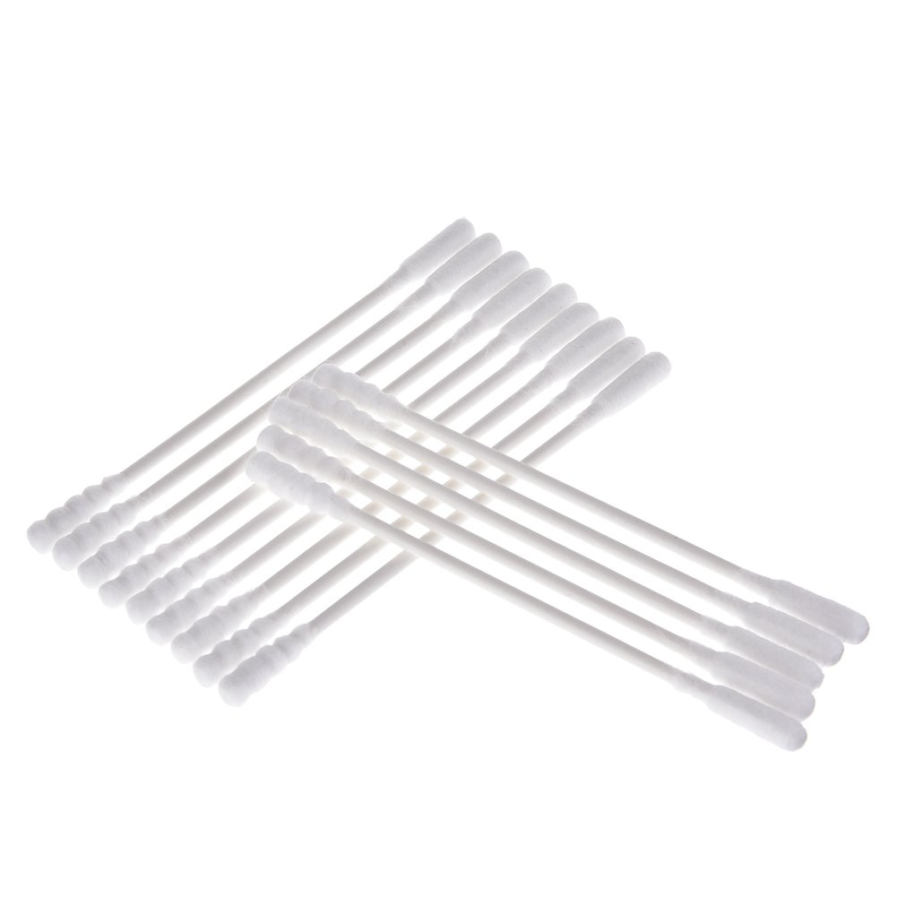 Per Cotton Swab Infant Baby Cotton Bud Double-Head Paper Stick Swab For Cleaning Ears Nose Navel-Cucurbit Head 56PCS