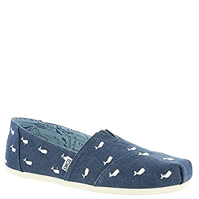 TOMS Women's Oceana Embroidered Whale 6 B US