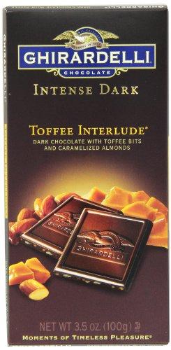 Ghirardelli Chocolate Intense Dark Bar, Toffee Interlude, 3.5 oz, 6 Count