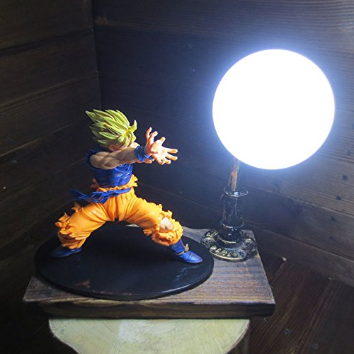Dragon Ball Son Goku Fighting Form Genki Dama Spirit Bomb LED Table Lamp by Aurookeb