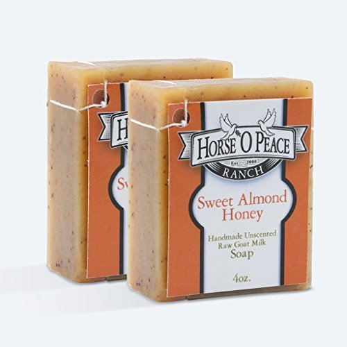 Handmade Herbal 100% Raw Goat Milk Sweet Almond Honey Soap (2 PACK)