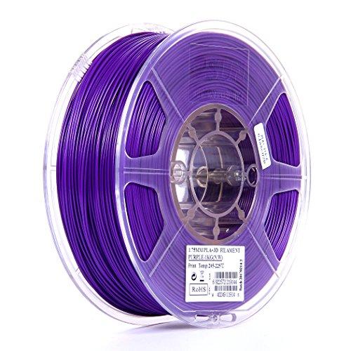 Spool Filament 1 Kg (eSUN 1.75mm Purple PLA PRO (PLA+) 3D Printer Filament 1KG Spool (2.2lbs), Purple)