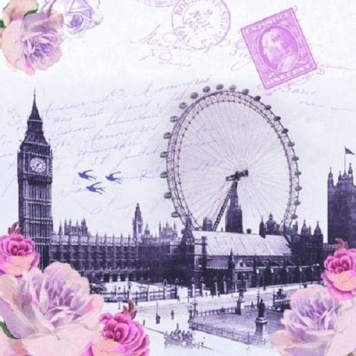 4 x Paper Napkins - London View - Ideal for decoupage / Napkin Art Crafty Things