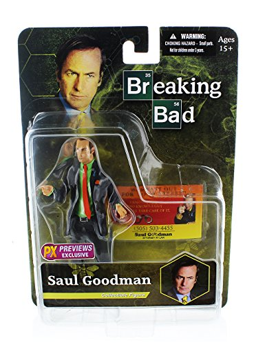 "Mezco Toys Breaking Bad: Saul Goodman (Green Shirt Version) 6"" Action Figure"