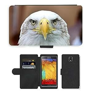 PU LEATHER case coque housse smartphone Flip bag Cover protection // M00112637 Águila de cola blanca Adler águila // Samsung Galaxy Note 3 III N9000 N9002 N9005