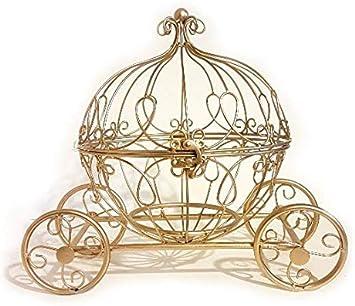 Amazon Com Large Gold Metal Cinderella Pumpkin Carriage Centerpiece Furniture Decor
