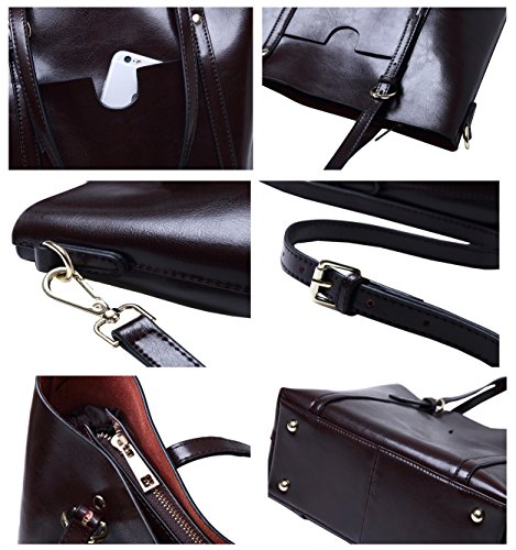 Leather Top Hobo Handle Satchel Genuine Tote Molodo Purse Shoulder Stylish Handbag Womens Brown FHxFq8