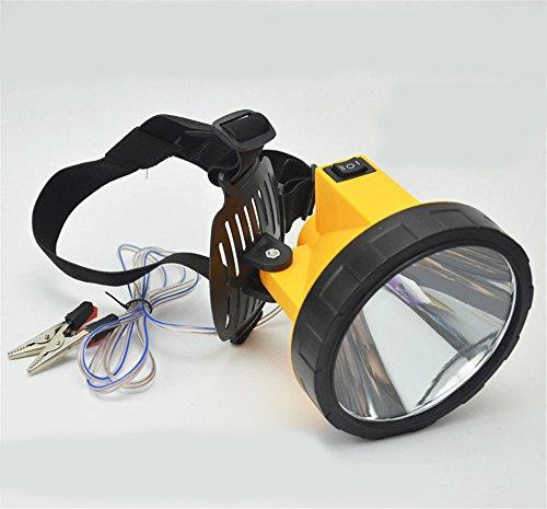 Linterna linterna antorcha 12V externa de la batería llevó luz brillante lámpara de pesca de caza de la lámpara de…