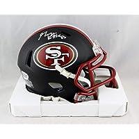 $125 » George Kittle Autographed San Francisco 49ers Flat Black Mini Helmet- Beckett Auth Silver