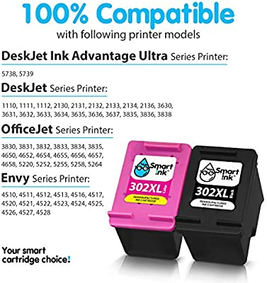 Smart Ink Reemplazo Compatible del Cartucho de Tinta 302XL 302 XL ...