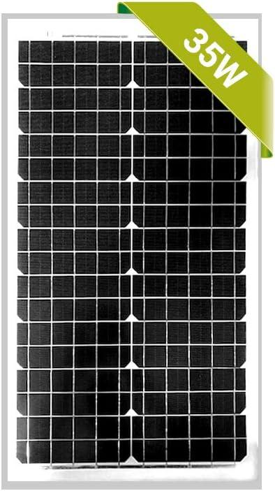 Newpowa 30W Poly 35W Mono Solar Panel 12V RV Marine Boat Off Grid 35W Mono