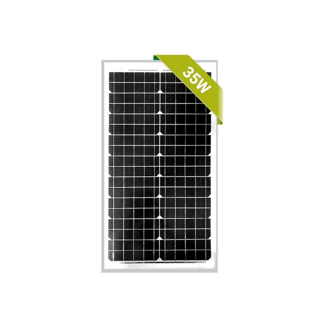 Newpowa 30W Poly/35W Mono Solar Panel 12V RV Marine Boat Off Grid (35W Mono) by Newpowa