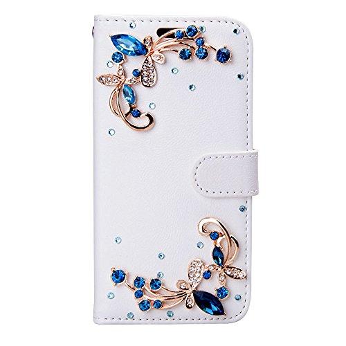 (HTC Bolt Case, HTC 10 Evo Case, Mellonlu 3D Bling Luxury Crystal Rhinestone PU Leather Flip Wallet Protective Case for HTC Bolt / HTC 10 Evo)
