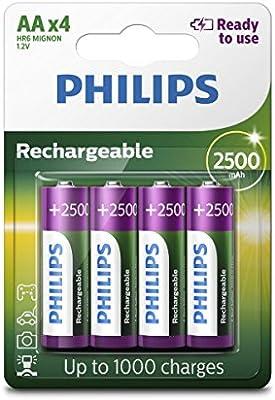 Philips Rechargeables Batería R6B4RTU25/10: Amazon.es: Electrónica