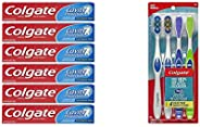 Colgate Cavity Protection Fluoride Toothpaste Bundle with 360° Medium Toothbrush Pack