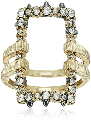 Alexis Bittar Crystal Encrusted Oversize Link Ring, Size (Alexis Bittar Ring)