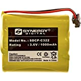 Radio Shack 23-193 Cordless Phone Battery NI-CD, 3.6 Volt, 1000 mAh, Ultra Hi-Capacity Battery - Replacement Battery for Panasonic HHR-P506, HHR-P505 Cordless Phone Batteries