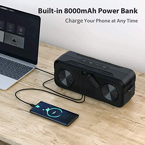 Bluetooth Speakers, WIMUUE 40W Loud Wireless Portable Speaker Built-in 8000mAh Power Bank, IPX6 Waterproof, TWS, TF Card, Equalizer, Bluetooth V5.0, Indoor & Outdoor 51Zl fmdaCL